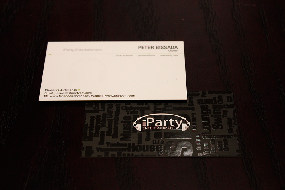 iParty Entertainment - Business Card - Unico Design