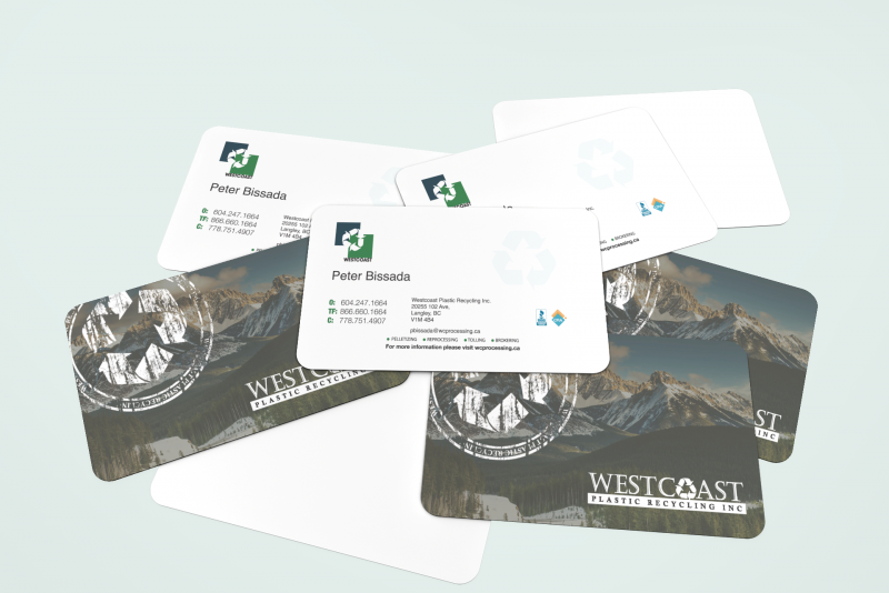 Westcoast Plastic Recycling – Business Card Design